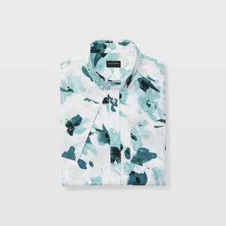 Club Monaco Slim Floral Short-Sleeve Shirt