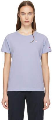 Champion Reverse Weave Blue Small Logo T-Shirt