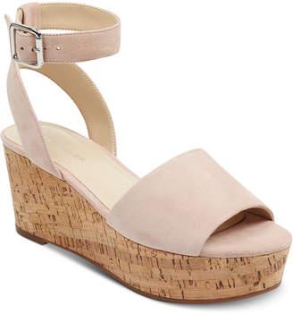 Marc Fisher Rillia Cork Flatform Sandals Women Shoes