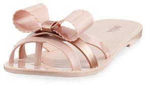 Melissa Shoes Fluffy II Flat Bow Sandal