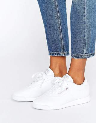 Reebok Princess Spirit White Sneakers $68 thestylecure.com