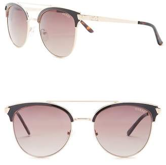 GUESS Women's Clubmaster Metal Frame Sunglasses
