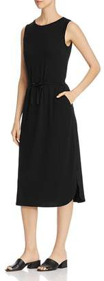 Eileen Fisher Drawstring-Waist Midi Dress