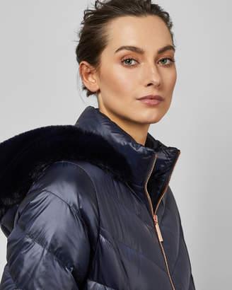 Ted Baker MILLSA Chevron long puffer jacket