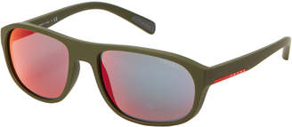 Prada Sport SPS 01R Olive Rectangle Sunglasses