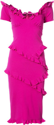 Nicole Miller pleated trim fitted dress $420 thestylecure.com
