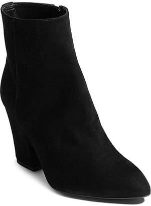 Karen Millen Women's Pointed Toe Studded Leather Block High-Heel Booties