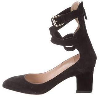 Valentino Suede Ankle-Strap Pumps
