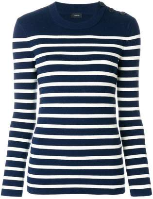 Joseph round neck striped jumper