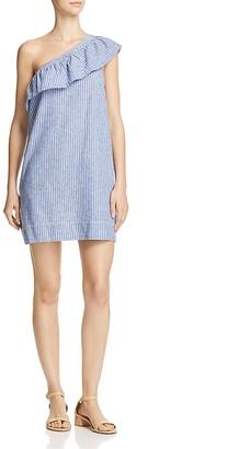 AQUA One-Shoulder Ruffle Dress - 100% Exclusive $88 thestylecure.com
