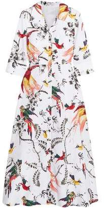 Erdem Kaisa Printed Cotton-Poplin Midi Dress