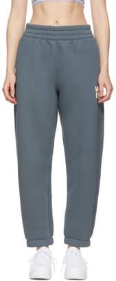Alexander Wang Grey Wash and Go Fleece Lounge Pants