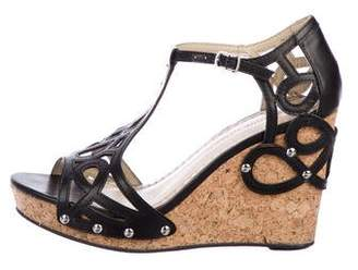 Adrienne Vittadini Leather Wedge Sandals