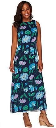 Liz Claiborne New York Petite Floral Print Maxi Dress