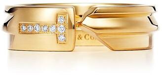 Tiffany & Co. & Co. Keys modern keys ring in 18k gold with diamonds - Size 10