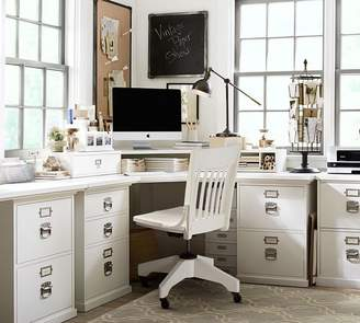 "Pottery Barn Bedford Smart Technologyâ""¢ Corner Desk Hutch, Antique White"