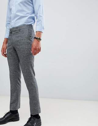 Farah Smart Thornville skinny cropped pants in gray texture