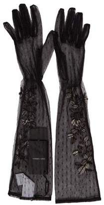 Dolce & Gabbana Embellished Long Gloves w/ Tags