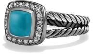 David Yurman Petite Albion Ring with Turquoise and Diamonds $675 thestylecure.com