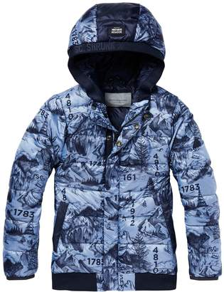Scotch & Soda Printed Puffer Jacket