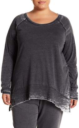 Melrose and Market Long Sleeve Burnout Tee (Plus Size)