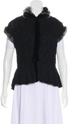 Magaschoni Fur-Trimmed Knit Vest