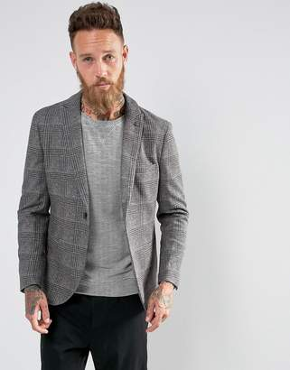 Selected Slim Wool Mix Blazer in Check