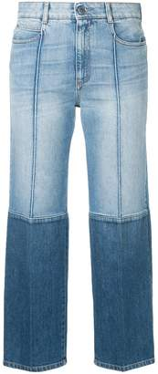 Stella McCartney two-tone cropped jeans