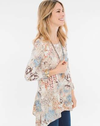Zenergy Printed Seam-Detail Tunic