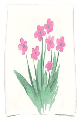 Simply Daisy, 16 x 25 inch, Pretty Little Flower Hand Towel, Pink