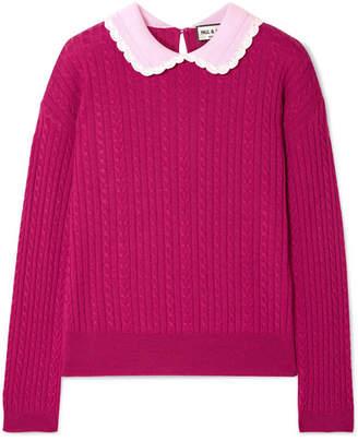 Paul & Joe Cable-knit Wool Sweater - Plum