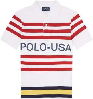 Polo Ralph Lauren Regatta Striped USA Polo Shirt