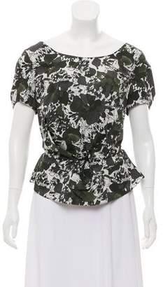 Marni Floral Print Short Sleeve Top