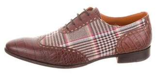Etro Pointed-Toe Wingtip Oxfords