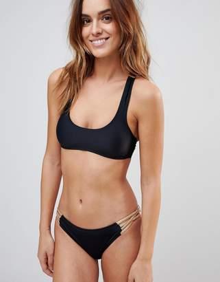 South Beach Rose Gold Strappy Bikini Set