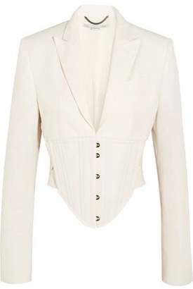 Stella McCartney Abigail Cropped Cutout Cady Jacket