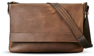 Shinola Men's East-West Leather Messenger Bag