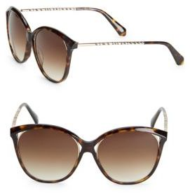 Balmain 52MM Tortoiseshell Cat's Eye Sunglasses