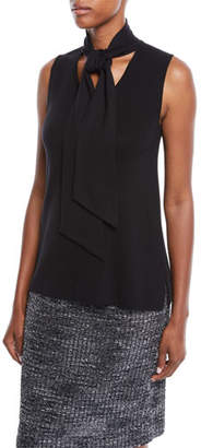 Misook Sleeveless Knit Top w/ Tie Detail