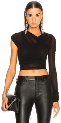 Ann Demeulemeester Sheer One Shoulder Cropped Top