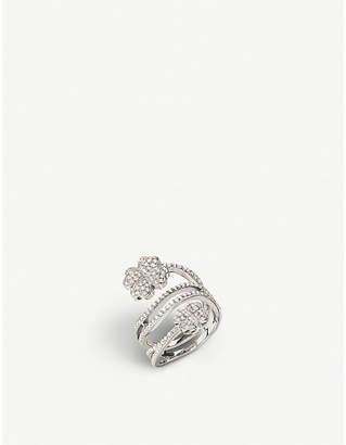 Folli Follie Miss Heart4Heart four-leaf clover sterling silver ring