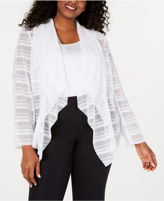 6f9c80cbfbfb0d Alfani Plus Size Waterfall Mesh Jacket, Created for Macy's
