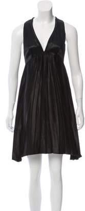 CNC Costume National Satin Mini Dress Black Satin Mini Dress