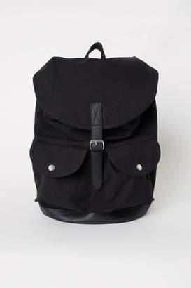 H&M Cotton Canvas Backpack - Black - Men