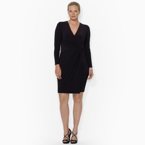 Ralph Lauren Surplice Knotted Jersey Dress