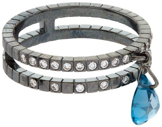 London Blue Topaz Double Ring