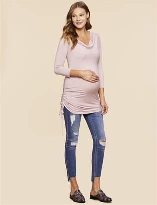 Jessica Simpson Motherhood Maternity Side Tie Maternity Tunic