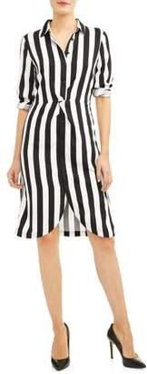ALISON ANDREWS Women's Twist Front Shirt Dress