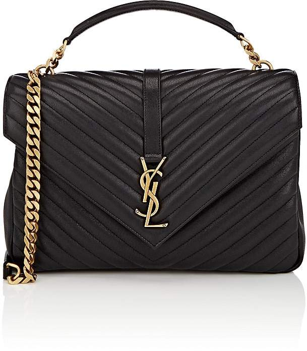 Saint Laurent Women's Monogram College Large Leather Shoulder Bag
