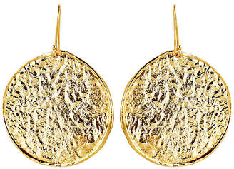 At One Kings Lane Nest Hammered Gold Disc Earrings